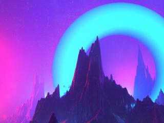 Artistic Vaporwave Purple wallpaper