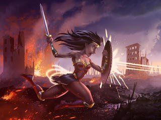 Artwork Of Wonder Woman wallpaper
