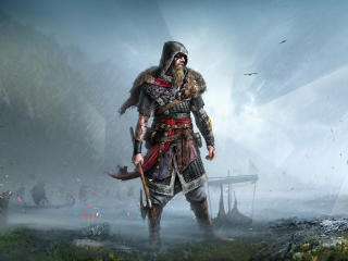 Assassin's Creed Valhalla 8K Viking wallpaper