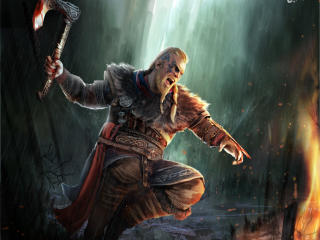 Assassin's Creed Valhalla Male Viking Warrior wallpaper