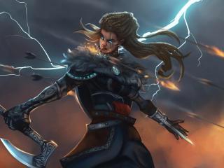 Assassin's Creed Valhalla Woman Warrior wallpaper