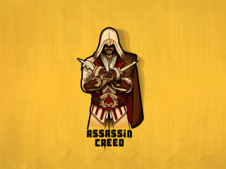 Assassins Creed Minimalist 4K Art wallpaper
