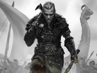 Assassins Creed Valhalla Monochrome wallpaper