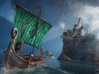 Assassins Creed Valhalla Ragnarok Battle Ship wallpaper