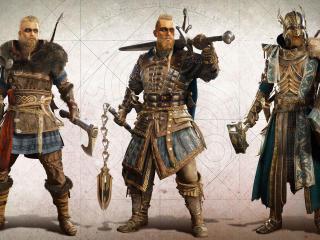 Assassins Creed Valhalla Vikings Characters wallpaper