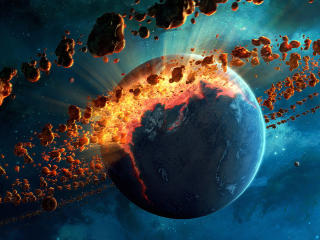 Asteroid Explosion wallpaper
