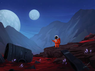 Astronaut Art 4K wallpaper
