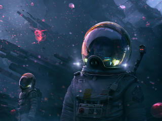 Astronaut Digital Art wallpaper