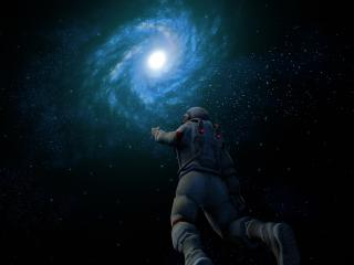 Astronaut In Galaxy wallpaper