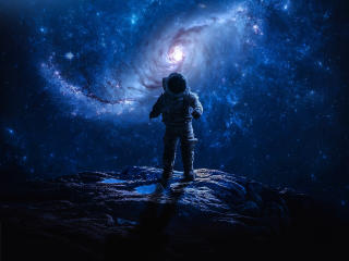 Astronaut Lost in Space wallpaper