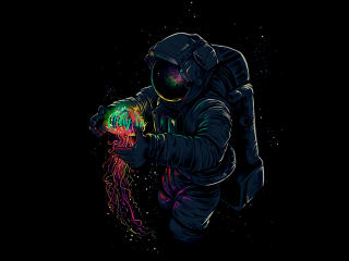 Astronaut With Jellyfish wallpaper