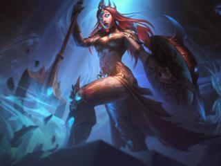Athena x Smite wallpaper