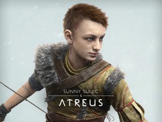 Atreus in God of War Ragnarok wallpaper