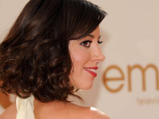aubrey plaza, actress, smile wallpaper