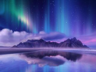 Aurora Borealis Digital Art wallpaper