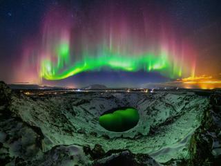 Aurora Borealis Landscape Photography wallpaper