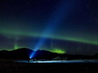 Aurora Night 4K wallpaper