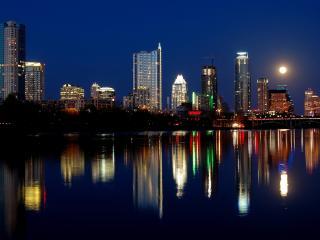 austin, texas, night wallpaper