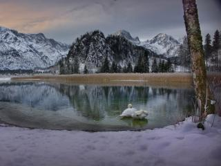 Austria Snow Alps wallpaper