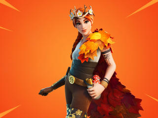 Autumn Queen Fortnite wallpaper