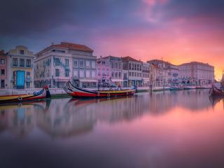 Aveiro Portugal Beautiful River View wallpaper