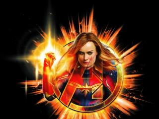 Avengers Endgame Captain Marvel Artwork 2018 wallpaper