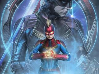 Avengers Endgame Captain Marvel Poster Art wallpaper