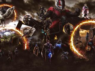 Avengers Endgame Portal Last Scene wallpaper