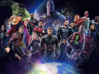 Avengers Infinity War 2018 All Characters Fan Poster wallpaper