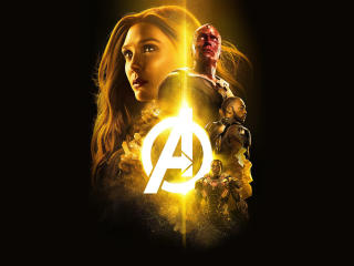 Avengers Infinity War 2018 The Mind Stone Poster wallpaper