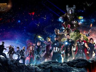 Avengers Infinity War All Superhero Characters wallpaper