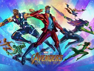 Avengers Infinity War Fandango Poster wallpaper
