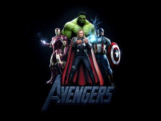 Avengers  Thor Iron Man Captain America And Hulk Poster wallpaper