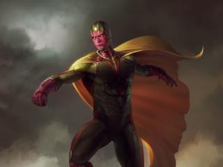 HD Wallpaper | Background Image Avengers Vision Artwork