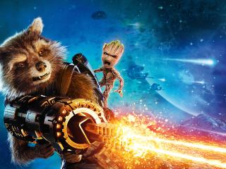 Baby Groot And Rocket Raccoon Guardians Of The Galaxy Vol 2 wallpaper