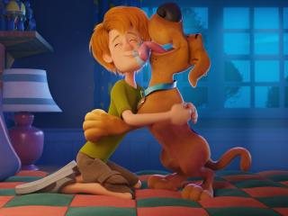 Baby Shaggy Rogers and Scooby Doo wallpaper