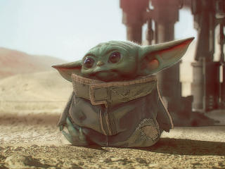 Baby Yoda Art Mandalorian wallpaper