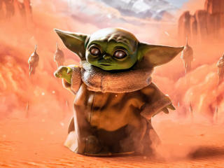 Baby Yoda Grogu Star Wars Art wallpaper