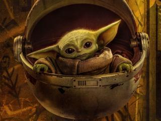 Baby Yoda Poster wallpaper