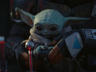 Baby Yoda The Mandalorian 4K wallpaper