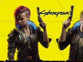 Background of Cyberpunk 2077 wallpaper
