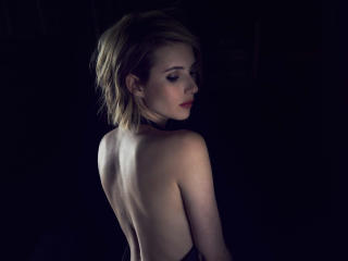 Backless Emma Roberts Photoshoot 2017 wallpaper