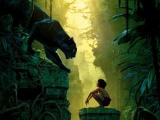 Bagheera & Mowgli Jungle Book wallpaper