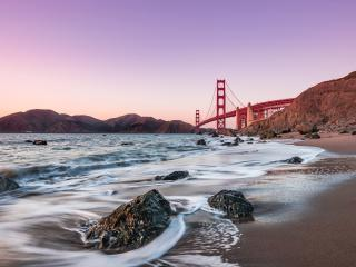 Baker Beach Golden Gate Bridge wallpaper