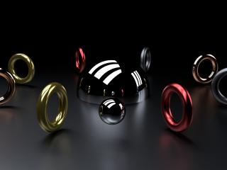 ball, ring, shape wallpaper