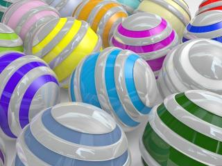 balloons, colors, stripes wallpaper