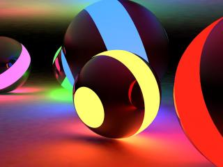 balls, bright, light wallpaper