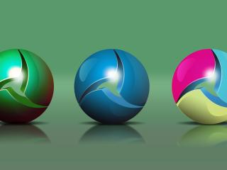 balls, shapes, spheres wallpaper