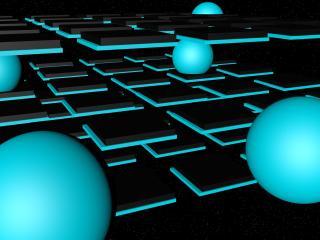 balls, space, neon wallpaper