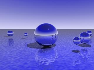 balls, sphere, space wallpaper